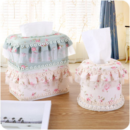 Wholesale Paper Lace Roll - Wholesale- 3Pcs lot Multi-Function Fashion Lace Tissue Boxes Cute Home& Tissue Case Box Container Towel Napkin Papers bag