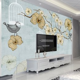 Wholesale kitchen oil proof wallpapers - Custom Wall Murals European Style Abstract Art Oil Painting Fresco Leisure Home Living Room Bedroom Decoration Mural wallpapers