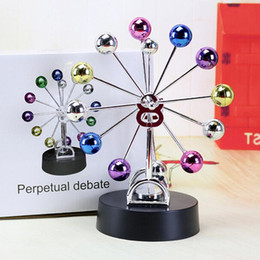 Wholesale Perpetual Desk - Magnetic Perpetual Motion Ferris Wheel Electric DIY Spinning Colorful Balls Children Kid Gift Toys Home Desk Office Decoration