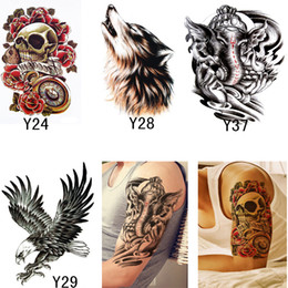 Wholesale temporary tattoos stencils - 4 styles 3D Temporary Tattoos Stencils Beauty Makeup For Men Women Sexy Transferable Waterproof Tattoos Body Art Temporary Tattoos