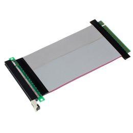 Wholesale Universal Ribbon - Malloom 2016 Universal PCI-Express PCI-E 16X Riser Card Flexible Ribbon Extender Extension Cable Top Sale Free shipping
