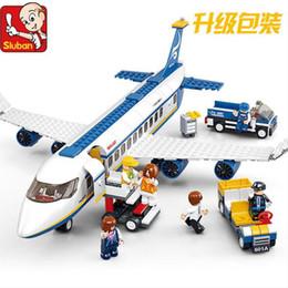 Wholesale Plane Brick Block - Plane toy AirBus Model Airplane Building Blocks sets DIY Bricks Classic Toys Compatible with plane