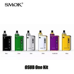 Wholesale Silver Fill - 100% Original SMOK OSUB One Kits 18650 Battery 50W VW TC Box Mod 2ml Top Filling Airflow Helmet Nano Tank