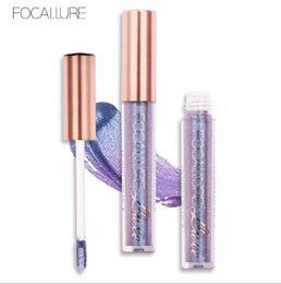 Wholesale orange light lip gloss - Wholesale big quantity New arrival for Makeup FOCALLURE Non-stick cup lip gloss diamond bead light lip gloss