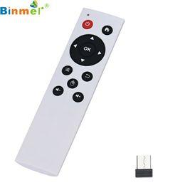 Claviers de prix en Ligne-Vente en gros - Prix usine Binmer Simplestone 2.4G Air Mouse Mouse Keyboard Remote Control pour PC TV Android TV Box oct25