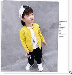 Wholesale Eyes Boys Clothing - Little kids cute jackets 2017 new autumn boys embroidery big eyes outwears children zipper long sleeve fashion clothing C1072