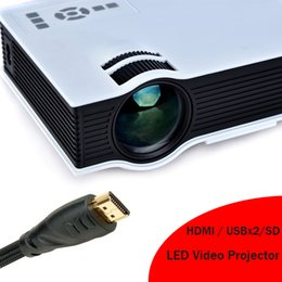 Wholesale Cheap Cost - Wholesale-2016 Best Selling HDMI LED Lamp Projector With USB SD Suit For Computer DVD Xbox PS Cheap Cost Mini Beamer Video Proyector
