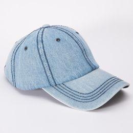 Wholesale Hats Jeans Caps - Wholesale- 2017 Baseball Cap Men Women Snapback Caps Brand Homme Hats For Women Falt Bone Jeans Denim Blank Gorras Casquette Plain AP194