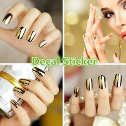 Wholesale Feature Art - Hot Feature Nail Sticker Art Water Transfer Decal Sticker Pattern Monochrome Laser Metallic (Size: One Size, Color: Multicolor)