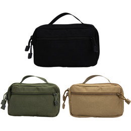 Wholesale Molle System Pouches - 2017 Fashion New Waterproof Nylon Molle System Waist Bag Medical First Aid Nylon Sling Pouch Hunting Outdoor Bags