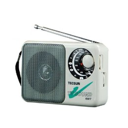 Wholesale radios internet - Wholesale-Original Tecsun R-201T Portable AM FM Radio High Sensitivity Pocket Receiver TV Sound 2-5CH Portable Built-In Speaker White