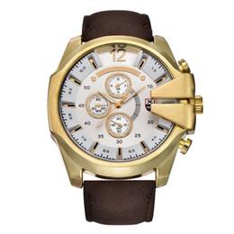 Wholesale Cowboy Watches - Brand men sports watches cowboy analog quartz leather fashion military watch gift boyfriend relogio masculino