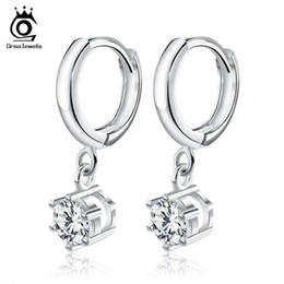Wholesale Silver Earings Wholesale - Orsa Jewelry Silver Earings Fashion Jewelry,Luxury Austria Crystal & 3 Platinum Plated,Top Quality Earring Wholesale OE93