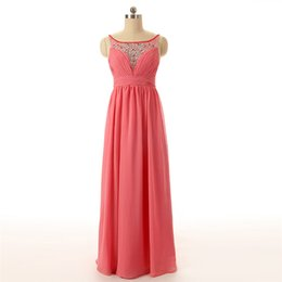 Wholesale Cheap Formals China - Gorgeous Formal Evening Dress 2017 Vestido Para Formatura Cheap Backless Long Chiffon Prom Dresses Made in China