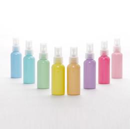 Bottiglie di toner online-Flacone Packi all'ingrosso, flacone spray Macaron PET, bombolette spray 50ml di nebulizzazione ultra fine toner, flaconi per cosmetici flaconi vuoti