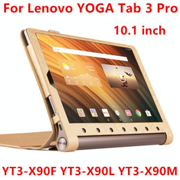 Wholesale Lenovo Tablet Protective Case - Wholesale- Case For Lenovo Yoga Tab 3 Pro Protective Smart cover Leather Tablet For YOGA YT3-X90F X90L X90M 10.1 inch PU Protector Sleeve