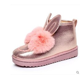 Wholesale Muscle Rabbit - Winter new rabbit hair ears thickening warm shoes women's boots short boots women boots