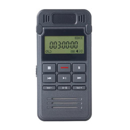 Wholesale Telephone Wav Recorder - Wholesale- Noise reduction high-definition digital voice recorder 8GB metal body rechargeable telephone Recorder with repeat function