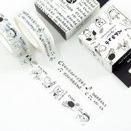 Wholesale Comic Paper - Wholesale- 2016 10M Cute kawaii Funny Comics Word Japanese Masking Paper Washi Tape Diy Scrapbooking Sticker Label School Office Supply
