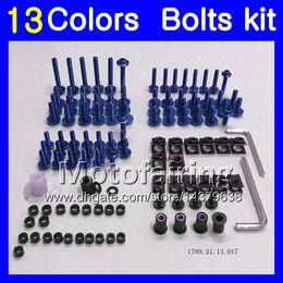 Wholesale yamaha r1 body - Fairing bolts full screw kit For YAMAHA YZFR1 09 10 11 YZF R1 YZF 1000 YZF1000 YZF-R1 2009 2010 2011 Body Nuts screws nut bolt kit 13Colors