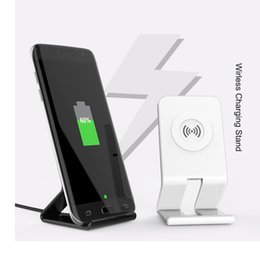 Wholesale Uk Standard Adapter - QI Standard Wireless Charger For iphone X 8 7 samsung S8 PLUS NOTE 8 S7 5V 1A Output Phone Charger Adapter OTH105