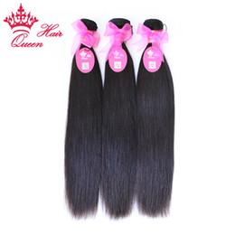 El pelo de la reina DHL libera el envío La longitud mezclada brasileña virginal recta natural del pelo humano, 3pcs / lot 8