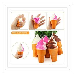 Wholesale Toys Hang Phone - Kawaii Squishies Cute Ice Cream Squishy Mini PU Squishies Ice Cream Pendant Model Hanging Drop Mobile Phone Charms Fidget Toys Charms