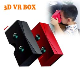 Wholesale Case For Folding Glasses - Wholesale- 3D VR Glasses Automatic Folding Case Boxes SKY Mobile Phone Google Cardboard Virtual Reality For 4.0-6.0 inch Smartphone