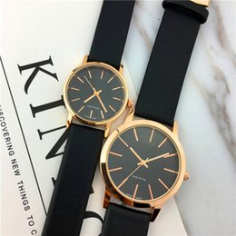 Wholesale Girls Dress Japan - Top Brand Woman Watch Genuine leather Nobel Female Quartz Dress watch Black Dial Face sports clock Gift for girls Japan Movement Classic