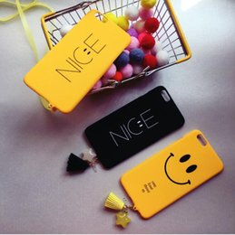 Wholesale Nice Phone Cases - Smiling face and nice Creative Phone Case for iphone6 phone7 iphone 7 4.4inch and 5.5inch with Lanyard dust proof plug