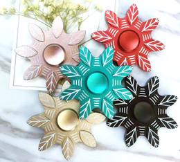 Canada Date en alliage d'aluminium Main Spinners Fidget Spinner 8 huit feuilles feuilles vertes flocons de neige du bout des doigts gyroscope Jouets de décompression pour Chi Offre