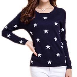LHZSYY Herbst und Winter neue O-Kragen Cashmere-Pullover Mode-Sterne-Muster  kurze Frauen Pullover weiche Wolle Strickpullover preiswerte gestricktes ... 1588778c5f