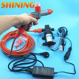 Wholesale Ac Pressures - Wholesale- High Pressure Portable Car Washer Machine With Foam Water Gun And Power Adapter, Suitable For 12V & AC 100V-240V Car Wash Kit