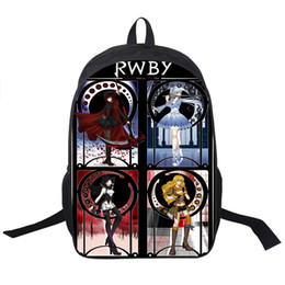Wholesale Ruby Boy - Wholesale- RWBY Backpack For Teenagers Boys Girls School Bags Ruby Rose Women Men Daily Backpack Kids School Backpacks Children Book Bag
