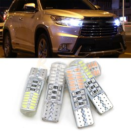 Wholesale 168 Led Red - Car LED T10 W5W 12V Canbus Clearance Lights 194 168 Led Wedge Car Light Bulbs 4014 24SMD Colorful Trunk Lamp bulbs
