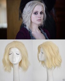 Wholesale Mix Blonde Lace Front - Freeshipping synthetic lace front wig+cap>>New Arrival iZombie Olivia Liv Moore short blonde Synthetic Anime wig