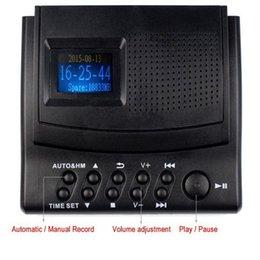Wholesale Best Monitor Display - Wholesale-Best Digital Voice Recorder Telephone Recorder Phone Call Monitor Sound Recorder with LCD Display+Caller ID+Clock Y4308