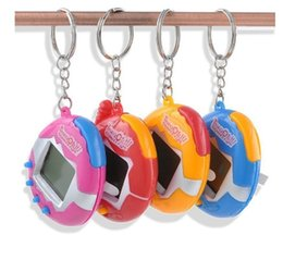 Wholesale Christmas Packaging For Toys - Tamagotchi Toys with packaging button cell Toys 7 colors Retro Game Virtual Pets electronic toy for kids christmas party favor