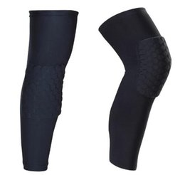 Wholesale Team Sport Training - New Honeycomb Anti-collision Professional Basketball Compression Knee Sleeve Protector Team Sports Training Knee pads Free Shipping