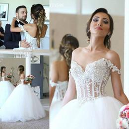 2018 Zarif Dantel Aplikler Sapanlar Sevgiliye Korse Korse Balo Gelinlik İnci Boncuklu Gelin Törenlerinde Vestidos De Noiva supplier corset bride gown nereden korse gelin elbisesi tedarikçiler