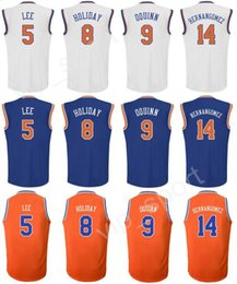 Wholesale Willy S - Men Printed 5 Courtney Lee Jersey 9 Kyle O'Quinn 8 Justin Holiday Basketball Jerseys Cheap 14 Willy Hernangomez Sport Blue White Orange