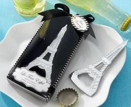Wholesale Tour Eiffel Party - Newest La Tour Eiffel Tower Chrome Can Beer Bottle Opener Party Favor TOP1736