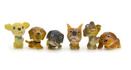 Casas de hadas bricolaje online-MC381 12 Pc Cute Dog Animal Miniatura Fairy Garden Home Homes Decoración Mini Craft Micro Landscaping Decor Diy Accesorios