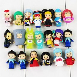 Wholesale Little Peoples Toys - EMS 20pcs set Cute Little People Mini Q Version Figure Toy Little Doll PVC Action Figure Model Toy Free Shipping