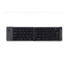 Ventanas plegable tableta online-Mini teclado inalámbrico Bluetooth 3.0 Teclado plegable portátil de aluminio para iOS Android / Windows PC Tablet Smartphone