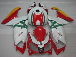 Wholesale White Zx14r - ABS Fairing for Aprilia RS125 2007 Body Kits RS 125 2008 White Red Fairing Kits Fairing Kits 2010 2006 - 2011