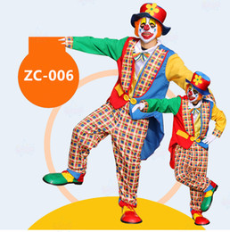 Wholesale Adult Clown Clothes - adult clown Street performance costumes Halloween costume fancy dress party costume stage Adult clown suit The circus performance clothing