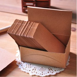 Wholesale Diy Paper Decoration - Free shipping high-grade retro P14-3A546 blank diy graffiti card kraft paper color postcard word card Notes & Notepads