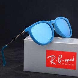 Wholesale Lady Frames - 2017 Luxury Ladies Cat Eye Sunglasses Women Brand Designer Erika Velvet Frame uv400 goggles oculos de sol feminina with box and brown cases