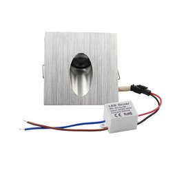 5V OU 220V 1X3W Led lampes murales carrées Footlight pour marches d'escalier / hall d'entrée, feux d'angle mural, CE / RoHS avec livraison gratuite ? partir de fabricateur
